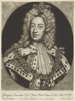 King George II, by Samuel Taylor, after  Sir Godfrey Kneller, Bt - NPG D7908