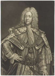 King George II, by John Faber Jr, after  Joseph Highmore - NPG D7909