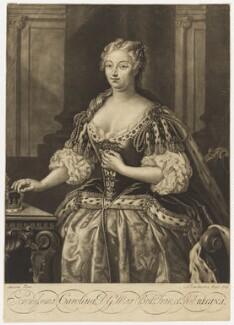 Caroline Wilhelmina of Brandenburg-Ansbach, by Alexander van Aken, after  Jacopo Amigoni, 1736 - NPG D7912 - © National Portrait Gallery, London
