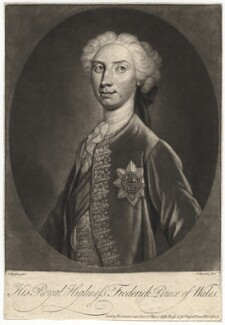 Frederick Lewis, Prince of Wales, by Van Werdlen, after  G. Hansson - NPG D7923
