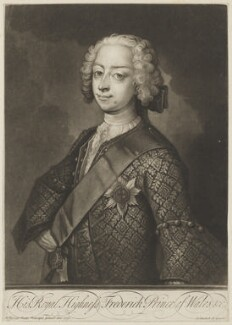 Frederick Lewis, Prince of Wales, by and published by John Simon, after  Philip Mercier - NPG D7924