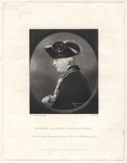 Edward Augustus, Duke of York and Albany, by George H. Every, published by  Henry Graves, after  Sir Joshua Reynolds - NPG D7930