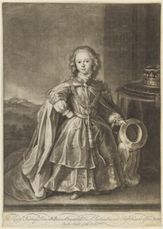 William Augustus, Duke of Cumberland when a child, by and published by John Simon, after  Unknown artist, (circa 1725) - NPG D7936 - © National Portrait Gallery, London