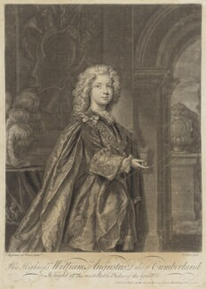 William Augustus, Duke of Cumberland, by John Faber Jr, after  Joseph Highmore - NPG D7937