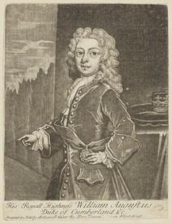 William Augustus, Duke of Cumberland, printed and published by Thomas Bakewell, after  Unknown artist, 1730s-1740s - NPG D7938 - © National Portrait Gallery, London