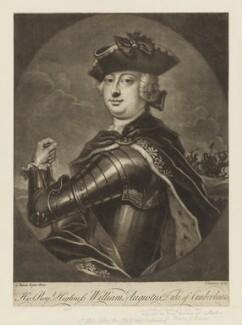 William Augustus, Duke of Cumberland, by and published by John Simon, after  Chevalier Carlo Francesco Rusca, (1738-1740) - NPG D7939 - © National Portrait Gallery, London