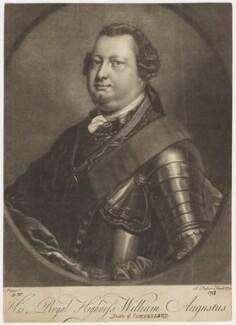 William Augustus, Duke of Cumberland, by John Faber Jr, after  David Morier, 1753 - NPG D7941 - © National Portrait Gallery, London