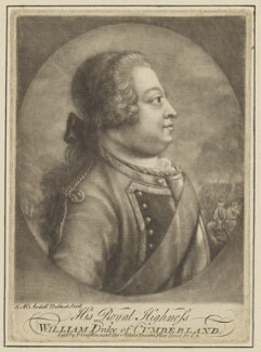 William Augustus, Duke of Cumberland, by James Macardell, published by  Peter Griffin - NPG D7945