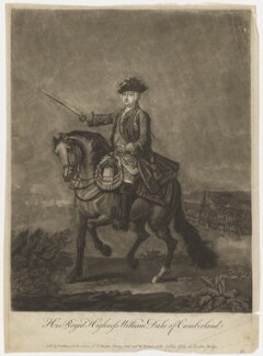 William Augustus, Duke of Cumberland, published by Thomas Jefferys, and published by  William Herbert, after  Thomas Hudson, and after  John Wootton - NPG D7947
