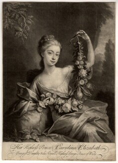 Princess Caroline Elizabeth, by John Simon, sold by  Thomas Taylor, after  Martin Maingaud - NPG D7955