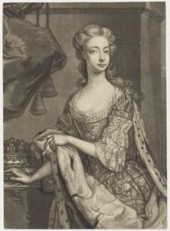 Princess Amelia Sophia Eleanora, by John Faber Jr, after  Hans Hysing, mid 18th century - NPG D7958 - © National Portrait Gallery, London