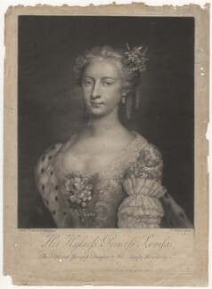 Louisa, Queen of Denmark, by and published by John Faber Jr, after  Arthur Pond - NPG D7961