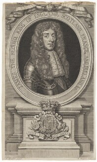 King James II, by Robert Sheppard, after  Sir Godfrey Kneller, Bt - NPG D7987