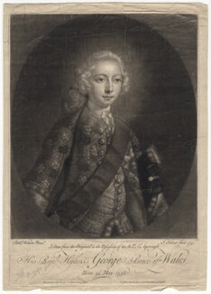 King George III when Prince of Wales, by John Faber Jr, printed for  Thomas Bowles Jr, printed for  John Bowles, printed for  Carington Bowles, after  Richard Wilson - NPG D7992