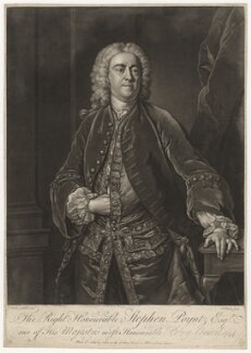 Stephen Poyntz, by John Faber Jr, after  Jean Baptiste van Loo - NPG D800