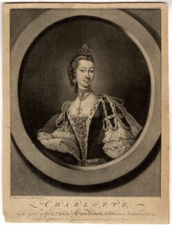 Charlotte of Mecklenburg-Strelitz, by Thomas Burford - NPG D8006