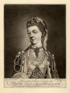 Charlotte of Mecklenburg-Strelitz, by James Watson, after  Thomas Frye - NPG D8010