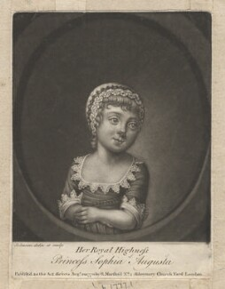 possibly Princess Augusta Sophia, by Johnson, published by  Richard Marshall - NPG D8019