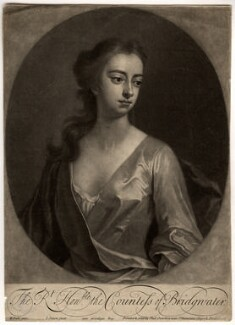 Elizabeth Egerton (née Churchill), Countess of Bridgewater, by John Simon, printed and sold by  Philip Overton, after  Michael Dahl, 1703 or after - NPG D808 - © National Portrait Gallery, London