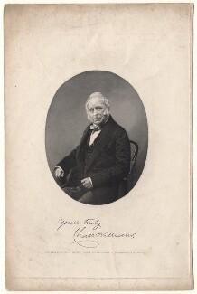 Charles Wye Williams, by Robert Hicks, after  Dr Edwards - NPG D8081
