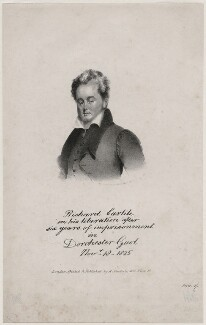 'On his liberation after six years of imprisonment...' (Richard Carlile), after Unknown artist - NPG D8083
