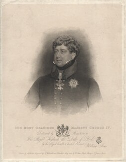 King George IV, by Thomas Woolnoth, published by  William Sams, after  Abraham Wivell - NPG D8088