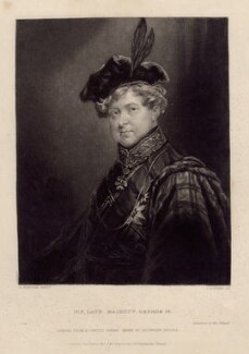 King George IV, by John Rogers, published by  John Harwood, published by  Frederick Harwood, after  A. Huffam - NPG D8089