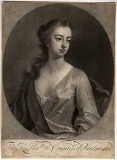 Elizabeth Egerton (née Churchill), Countess of Bridgewater, by John Simon, printed and sold by  Philip Overton, after  Michael Dahl, 1703 or after - NPG D809 - © National Portrait Gallery, London