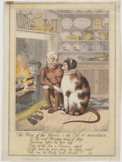 The Man of the Woods & the Cat-o'-mountain (Sir Matthew Wood, Bt; Caroline Amelia Elizabeth of Brunswick), attributed to Theodore Lane, published by  George Humphrey - NPG D8094