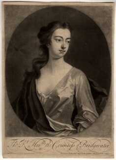 Elizabeth Egerton (née Churchill), Countess of Bridgewater, by John Simon, printed and sold by  Robert Sayer, after  Michael Dahl, 1703 or after - NPG D810 - © National Portrait Gallery, London