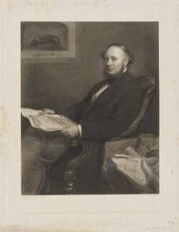 Sir John Fowler, 1st Bt, by Thomas Oldham Barlow, after  Sir John Everett Millais, 1st Bt - NPG D8106