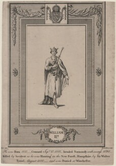King William II ('Rufus'), by Rennoldson, probably after  Samuel Wale - NPG D8111