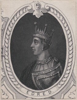 Edred, King of England, after Unknown artist, late 18th-early 19th century - NPG D8113 - © National Portrait Gallery, London