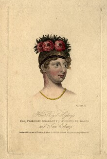Princess Charlotte Augusta of Wales, by Miss Roberts, published by  Robert Miller - NPG D8116