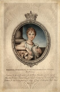 Princess Charlotte Augusta of Wales, by Marie Anne Bourlier, published by  John Bell, after  Richard Cosway - NPG D8117