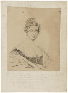Princess Charlotte Augusta of Wales, by Frederick Christian Lewis Sr, after and published by  Sir George Hayter - NPG D8118