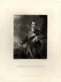 Alexander Hood, 1st Viscount Bridport, by John Richardson Jackson, after  Sir Joshua Reynolds - NPG D812