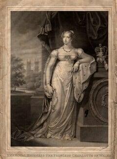 Princess Charlotte Augusta of Wales, by John Samuel Agar, after  Charlotte Jones, published 21 March 1814 - NPG D8120 - © National Portrait Gallery, London