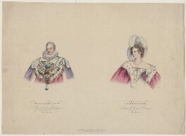 King William IV; Queen Adelaide (Princess Adelaide of Saxe-Meiningen), published by T. Bird, published by  Rudolph Ackermann, published by  Charles Tilt, published 1 July 1830 - NPG D8129 - © National Portrait Gallery, London