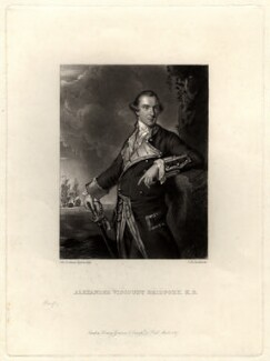 Alexander Hood, 1st Viscount Bridport, by John Richardson Jackson, after  Sir Joshua Reynolds, published 1867 - NPG D813 - © National Portrait Gallery, London