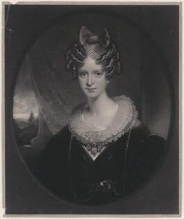 Queen Adelaide (Princess Adelaide of Saxe-Meiningen), by Thomas Goff Lupton, after  Sir William Beechey - NPG D8131