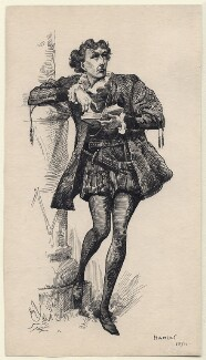 Sir Henry Irving as Hamlet, by Harry Furniss - NPG D82