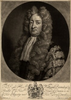 William Bromley, by and published by John Smith, after  Michael Dahl - NPG D820