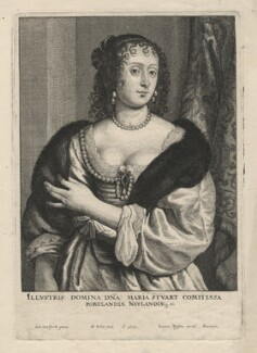 Frances Weston (née Stuart), Countess of Portland, by Wenceslaus Hollar, after  Sir Anthony van Dyck - NPG D8218