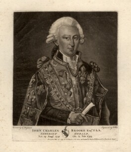 John Charles Brooke, by Edward Bell, after  Thomas Maynard - NPG D822