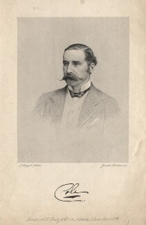 Lowry Edward Cole, 4th Earl of Enniskillen, by Joseph Brown, published by  A.H. Baily & Co, after a photograph by  John Jabez Edwin Mayall - NPG D8221
