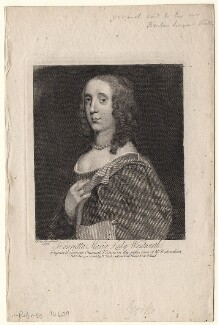 Unknown woman engraved as Henrietta Maria Wentworth, 6th Baroness Wentworth, after Sir Peter Lely - NPG D8224