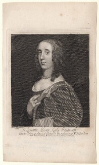 Unknown woman engraved as Henrietta Maria Wentworth, 6th Baroness Wentworth, after Sir Peter Lely - NPG D8225