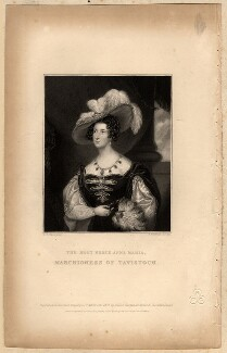 Anna Maria Russell (née Stanhope), Duchess of Bedford when Marchioness of Tavistock, by John Cochran, after  G.R. Wood - NPG D8234