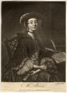 Mrs Brooks, by Charles Spooner, printed for  John Bowles, after  Thomas Worlidge - NPG D824
